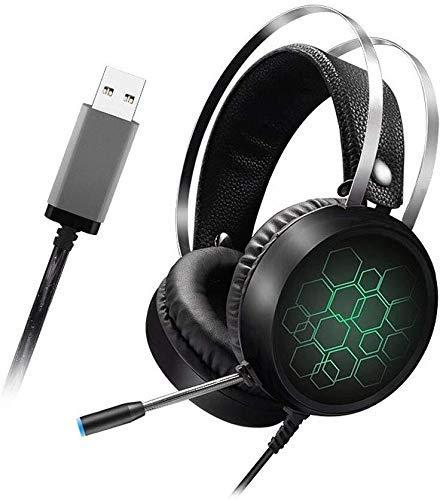 Preisvergleich Produktbild Jszzz Wired Gaming Headset,  7.1 Gaming-Kopfhörer mit Mikrofon Gamer Surround Sound USB-Kabel,  Geeignet for PC / PS4 / Xbox One / Switch (Farbe: B) (Color : A)