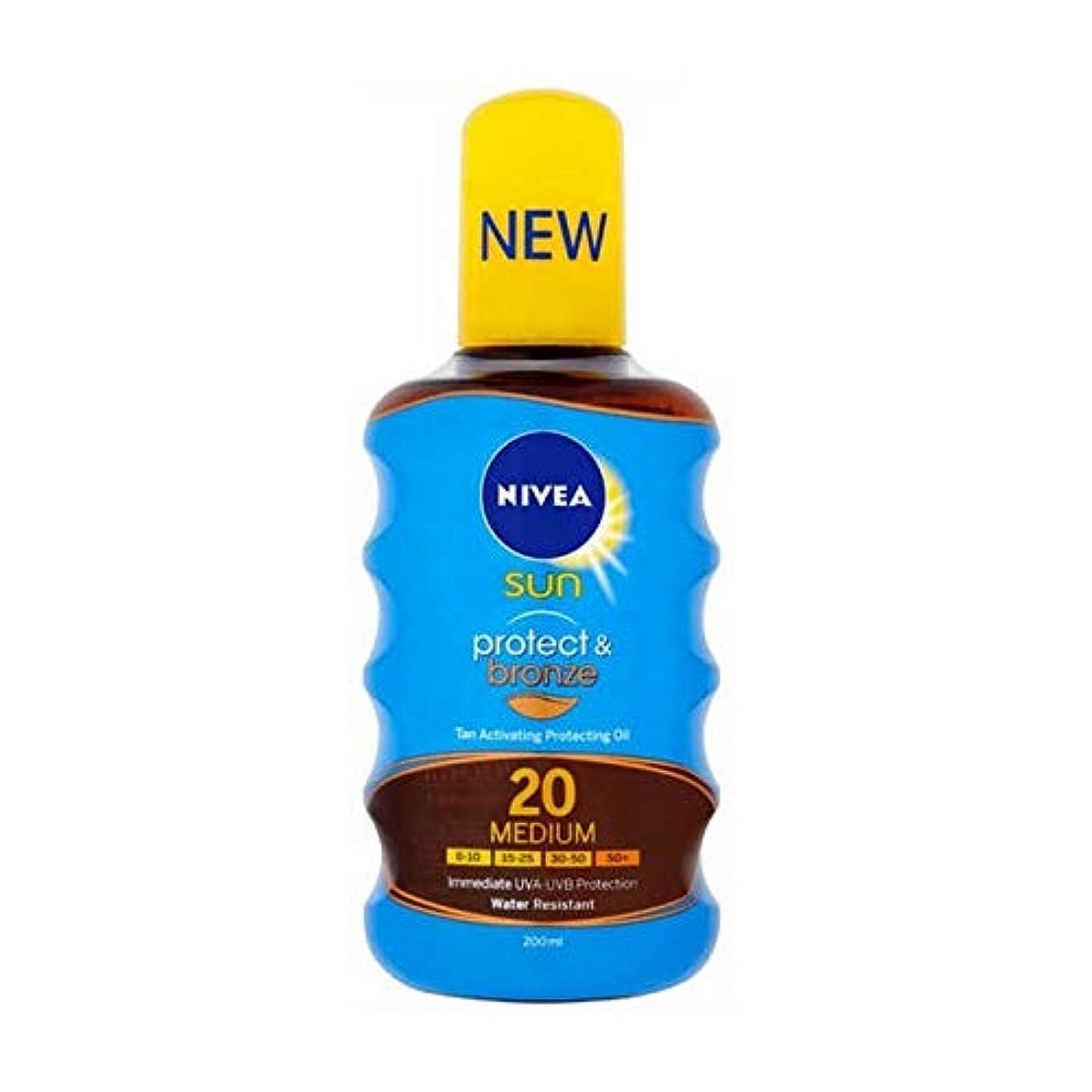 シプリー痛み怠惰[Nivea ] ニベア日焼けオイルSpf20プロテクト&ブロンズ200ミリリットル活性化 - NIVEA SUN Tan Activating Oil SPF20 Protect&Bronze 200ml [並行輸入品]