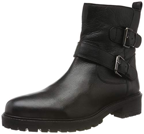 Geox Damen D HOARA G Ankle Boot, Black, 38 EU