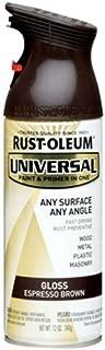Rust-Oleum 245215 Universal All Surface Spray Paint, 12 oz, Gloss Espresso Brown