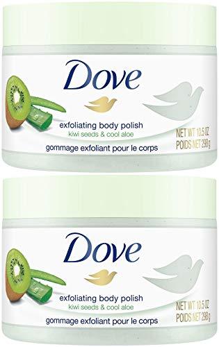 Dove Exfoliating Body Polish, Kiwi Seeds & Cool Aloe, 10.5 Ounce (Pack of 2)