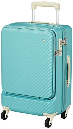 [ハント] スーツケース マイン ストッパー付き ジッパータイプ 48cm 33L 機内持込みサイズ フロントオープンタイプ 05744 機内持ち込み可 54 cm 3.3kg ブルークローバー