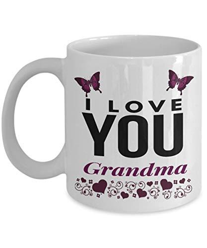 N\A Taza de café de la Novedad de la Mariposa de la Abuela de I Love You