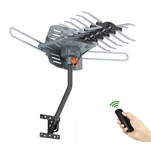 HDTVAntenna150MileRange, Amplified HD Digital TV Antenna, Philex 360 Degree RotatingAntenna Support 4kSatellite TV VHF UHF Channels with Pole Mount Support 2 TV
