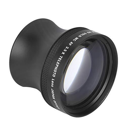 Teleconvertidor, Aleación De Aluminio + Vidrio óptico Aumento De 3,5 Veces Lente Telefoto Ligero Y Práctico Resistente Al Desgaste con Bolsa De Almacenamiento para Fotógrafos