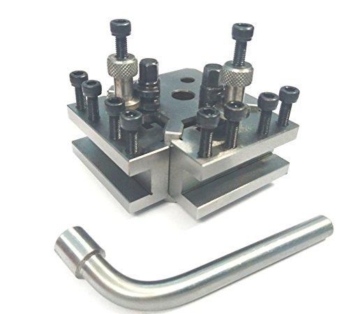 T37 Schnellwechselwerkzeug-Pfosten-Set + 2 Halterungen, Myford & Drehbank, 90-115 mm Mittenhöhe