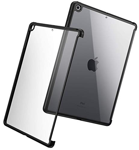 Poetic Bumper Series Case Designed for iPad 10.2 7th Generation 2019 / 8th Generation 2020 Case, Compatible with Official Apple Smart Cover and Smart Keyboard, Black