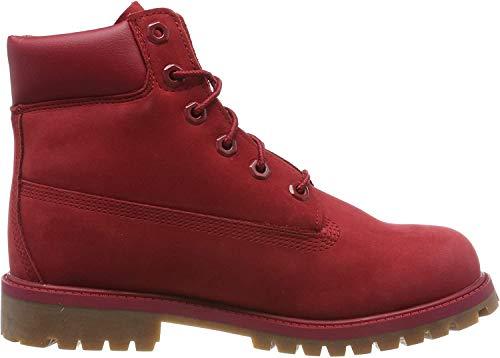 Timberland Unisex-Kinder 6-Inch Premium Waterproof Boot Klassische Stiefel, Rot (Medium Red Nubuck), 34 EU