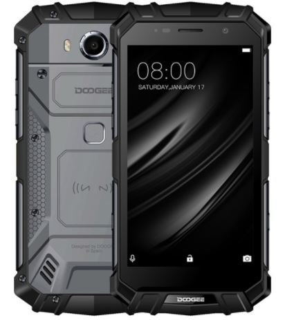 DOOGEE S60 Lite - 5.2 Pulgadas FHD Impermeable 4G Smartphone, 5580mAh batería Fast Charge (Carga inalámbrica Compatible), 1.5GHz Octa Core 4GB + 32GB, 8MP + 16MP, NFC GPS Metal Frame - Negro