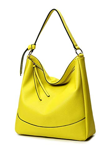 azalea store Moda Mujeres bolsas de hombro ocasionales de las bolsas de las mujeres Hobo Bolsa de gran capacidad Bolsas, Amarillo limón