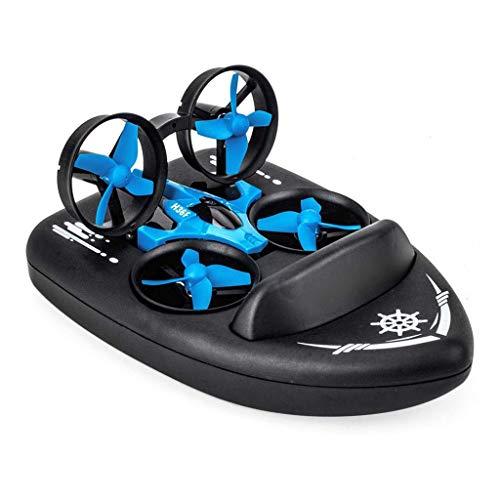 Barca RC, Elicottero Giroscopico A 4 Assi 2.4G con modalità Senza Testa 3D Lancia Un Drone con Ritorno A Chiave 3 in 1 Drone con Barca Hovercraft per Bambini Adulti, Ragazzi Ragazze