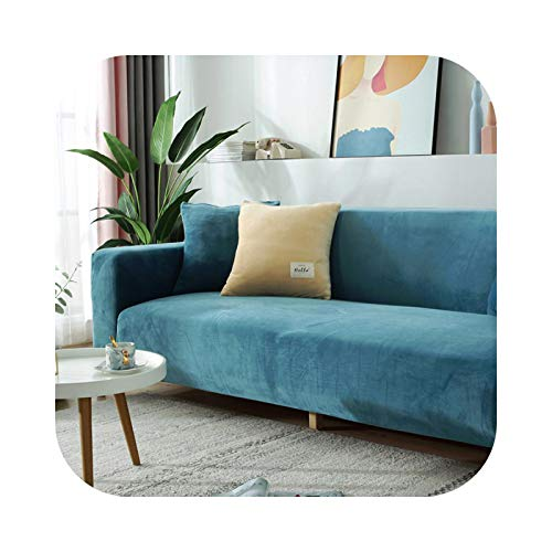 shop 1994 2021 Thick Velvet Sofa Cover Universal Couch Cover Sofa Slipcovers Machine Washable seat Bench Covers for Pets Kids Home Living room-10-3-Seat 190-230cm 1PC