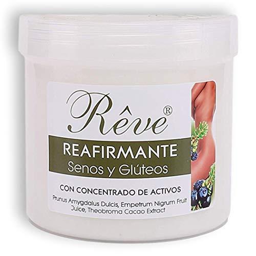 REVE Crema reafirmante corporal, senos y glúteos - 500 ml - Crema antiestrías embarazo - Ideal pechos, busto, posparto y estrías - Restaura la firmeza en la piel - Cosmética de calidad sin parabenes.