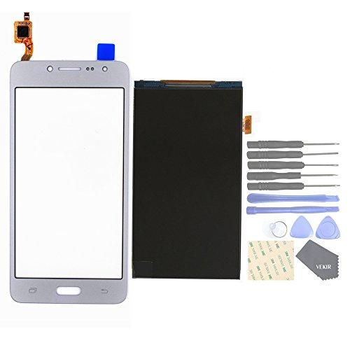 VEKIR Repuestos de teléfonos celulares para Samsung Galaxy J2 Prime Grand Prime Plus G532F G532M G532G Panel de Vidrio de Pantalla táctil+ Pantalla LCD[Not Yet Combined](Silver)