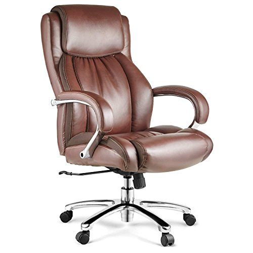 Halter HAL-007 Bonded Leather Office Chair, Executive Computer...