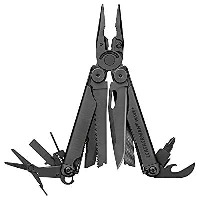 LEATHERMAN, Wave Plus Multitool with Premium Replaceable Wire Cutters, Spring-Action Scissors and Nylon Sheath, Built in the USA, Black