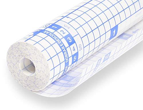 perfect line Buch-Schutz-Folie 15 m x 40 cm, Klebe-Hülle transparent, durchsichtig, selbstklebend, Einschlagfolie auf Rolle, starker Schoner-Umschlag für Bücher & Hefte in Schule oder Büro