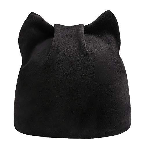 KPPONG 2019 Herbst und Winter Erbsen Hut russische warme Beanie Mütze,leicht und weich, einfache Ohrenschützer Ohr Plüsch Kappe