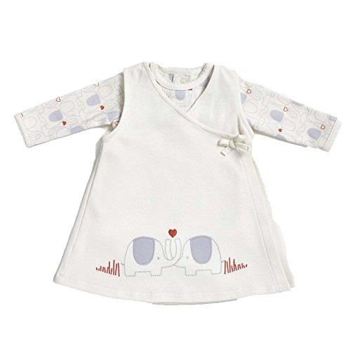 KATIES PLAYPEN / BABY BEST BUYS Natures Purest My 1st Friend Organic Cotton Bodysuit & Pinafore Dress - 3-6 Months Cream