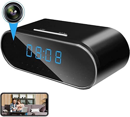 IYUNDUN Cámara Espía 1080P,Cámara De Reloj WiFi Oculta Inalámbrica Cámara De Seguridad para El Hogar Cámara Niñera Grabadora De Video para Interiores con Activación por Movimiento Y Visión Nocturna