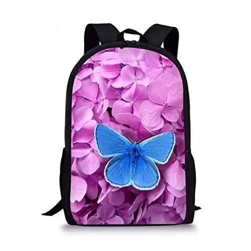 YUNSW Mochilas De Escuela Primaria para Niñas con Mariposas Coloridas En 3D, Mochilas Ergonómicas para Niños, Mochilas para Jóvenes, Mochilas Resistentes Al Desgaste E Impermeables para Niños