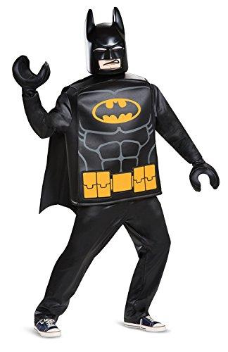 DC Batman Harley Quinn 66337-15L Batman Erwachsenen-Kostüm Deluxe, schwarz, XXL