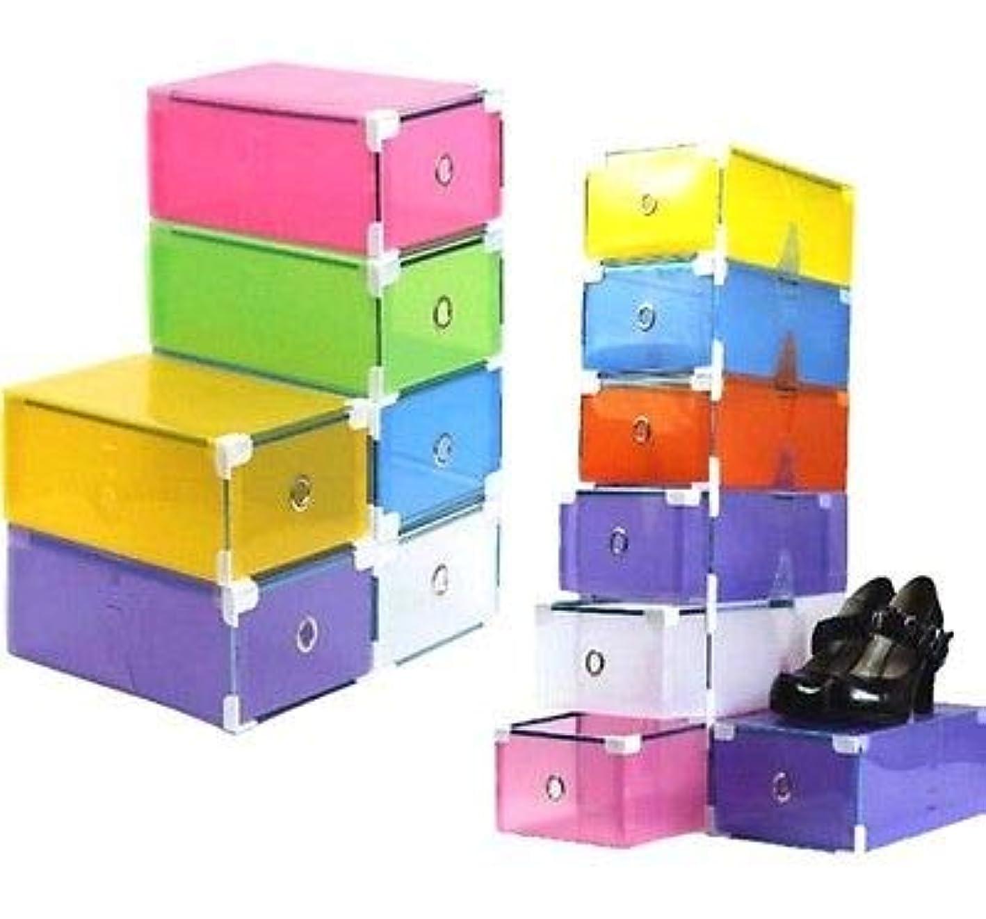 FidgetGear FD544 Drawer Container Women Foldable Shoe Organizer Storage Box Stackable 1PC Yellow 1pc