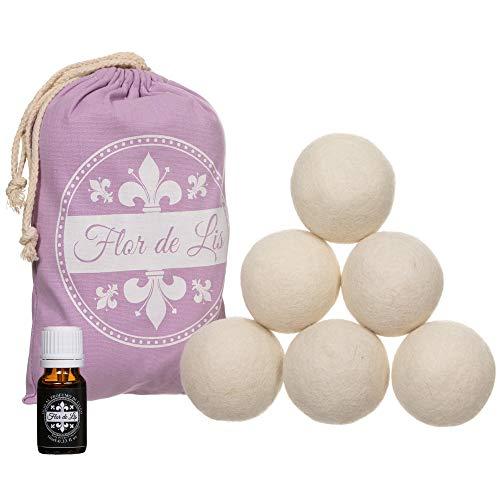 Bolas para secadora de lana con aceite al perfume de talco exclusivo, suavizante para ropa sucia, bolas con perfumador para ropa, ovillo atrapa pelos, accesorios para su secado
