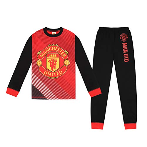 Manchester United FC Official Gift Boys Sublimation Long Pajamas 11-12 Years Red
