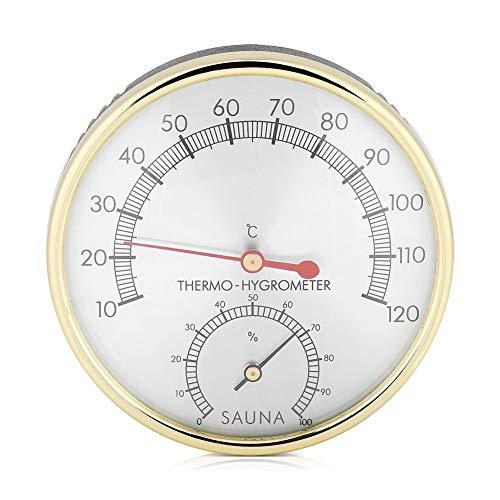 2 in 1 Sauna Thermometer Hygrometer Saunaraum Dampfbad Saunazubehör Warmes Windbad Zubehör Wasserdichtes und Feuchtigkeitsbeständiges Mechanisches Sauna Zubehör Geeignet für alle Umgebungen