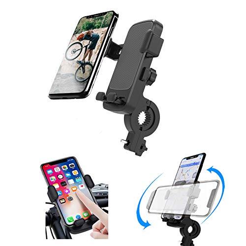 IYOYI Porta Cellulare Bici 360°Rotabile Regolabile Supporto Cellulare Moto Supporto Universale Porta Telefono Moto Bici per 4.7-6.8 Pollici per iPhone/Samsung/HTC Supporto Manubrio Bici (Nero)