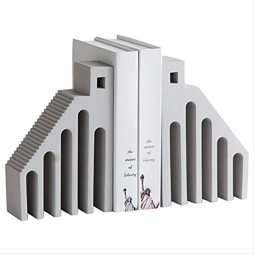 MJDLDV Dekoration, umweltfreundliches Lycins kreatives Zuhause, Studio, Buchständer, Basteln, Heimdekoration, Tischdekoration, 16 x 7 x 24 cm
