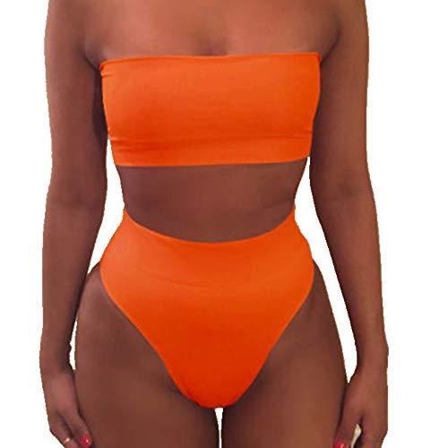 N\P Bikini con vendaje para bikini. naranja S