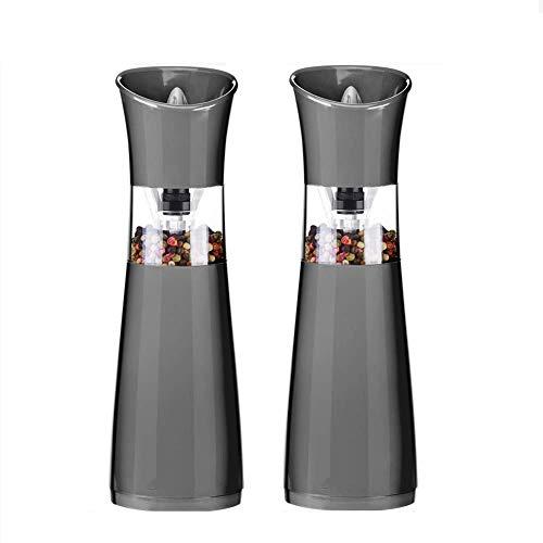 lqgpsx Elektrische Schwerkraft-Salz- und Pfeffermühlen, batteriebetriebene Pfeffermühle und Salzmühle, hohe Kapazität, einstellbare Mahlgrobheit