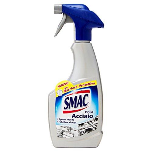 Smac Brilla Acciaio, Detergente Spray, Azione Anticalcare e Lucidante, con Barriera Protettiva, 500 ml