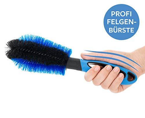 Gants de Lavage Professionnel Carbigo® - de voiture extrêmement absorbant - Gant idéal en microfibre et gant de jante - Parfait pour le nettoyage humide des voitures, des motos ou de la maison (Bleu)