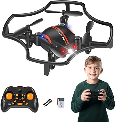 RC Drones for Kids & Beginners, 2020 New Mini Drone with LED Lights 2.4Ghz RC Helicopter Headless Mode, Pocket RC Quadcopter Altitude Hold for Drone Training & Kids Adults