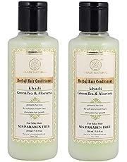 Khadi Natural Hair Conditioner, Herbal Green Tea and Aloevera