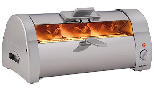 Cloer 3005 Brötchenbäcker zum Aufbacken von Brötchen, Kuchen oder Hefeteilchen, Edelstahl glänzend, 570 W