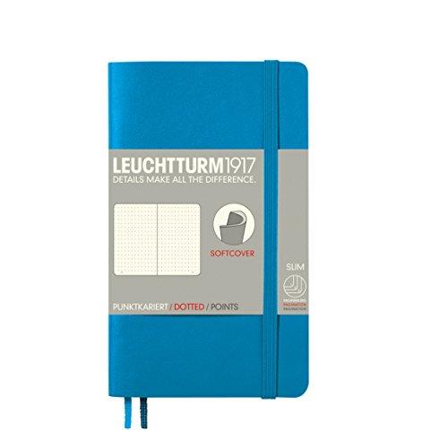 LEUCHTTURM1917 349276 Notizbuch Softcover Pocket (A6), dotted, Azur