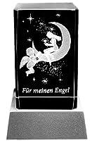SETANGEBOT: Glasquader im außergewöhnlichen Facettenschliff (Abmessung 8 x 5 x 5 cm), inklusive LED Untersetzer als außergewöhnliche Geschenkidee mit liebevoller Lasergravur Optisches Kristallglas in Spitzenqualität: Beleuchtung schöner als normales ...