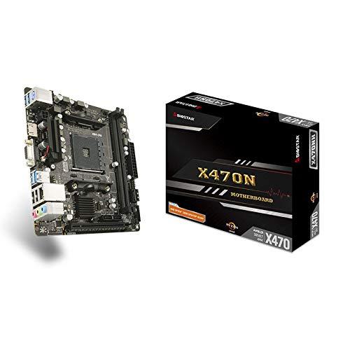 LALAHO Placa Base X470NH PCI-e M.2 Compatible con DDR4 4000 (OC)