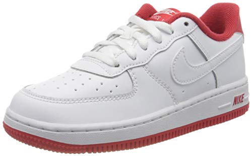 Nike Force 1-1 (PS), Scarpe da Basket Bambino, White/University Red, 32 EU