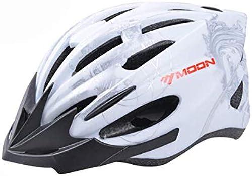WANGZZZ Fahrradhelm Leuchtwarneinrichtung Fahrradhelm Integrierte Formung Mountainbike Helm, C