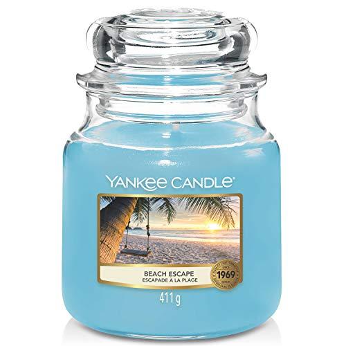 Yankee Candle - Candela profumata in barattolo medio, durata fino a 75 ore