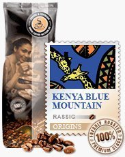 Coffee-Nation Kenya Blue Mountain 1000g Bohnen | Spitzenqualität | Kaffeeliebhaber