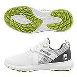 FootJoy FJ Raven SL, Zapatillas de Golf para Hombre, Blanco (Blanco/Gris 56101m), 40.5 EU