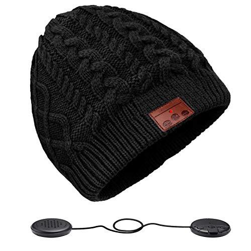 ZRUHIG Gorro Bluetooth Hombre, Mujer Regalos Gorro Bluetooth V5.0 Sombreros de Auriculares inalámbrico Unisex actualizados adecuados para Deportes al Aire Libre, Regalo Navidad