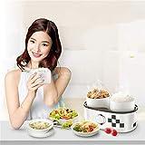 250W 1L Double réservoir en céramique Portable Chauffage électrique Boîte à lunch Rice Cooker nourriture chaude chauffe-Mijoter soupe de cuisson congee machine
