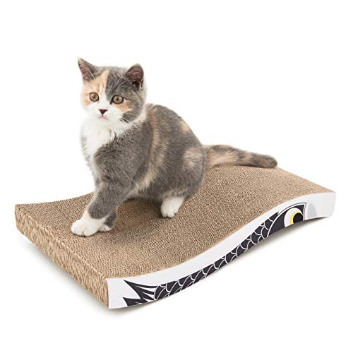 Coching Cat Scratcher Cardboard Curved Shape Scratch Pad Durable Scratching Pad Reversible